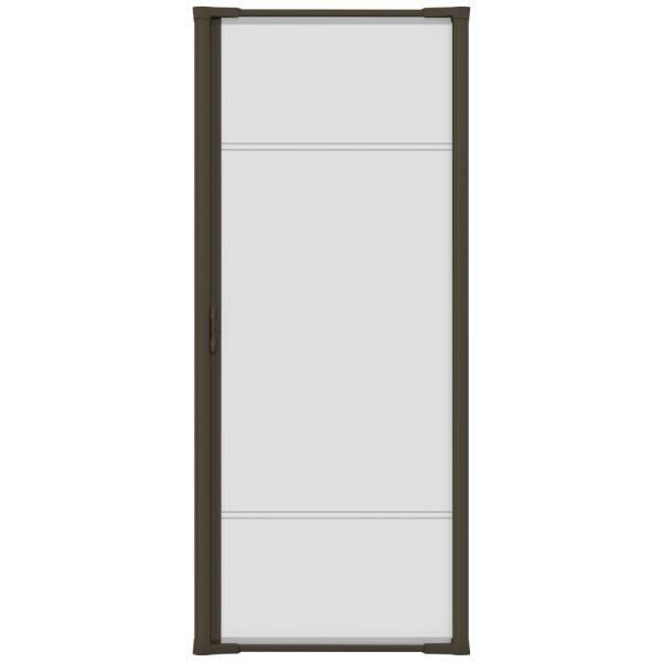 36 in. x 96 in. Brisa Brown Tall Retractable Screen Door