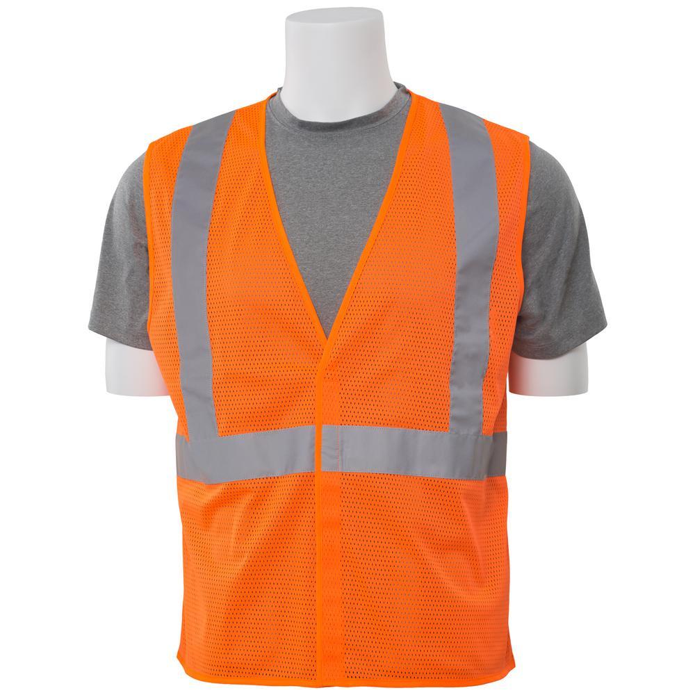 ERB S362 5X Class 2 Economy Poly Mesh Hi Viz Orange Vest