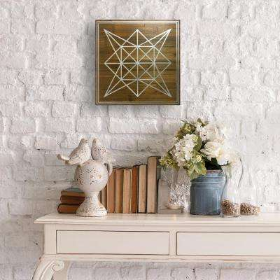 "14 in. x 14 in. ""Geometric Star"" by Wynwood Studio Framed Printed Wall Art"