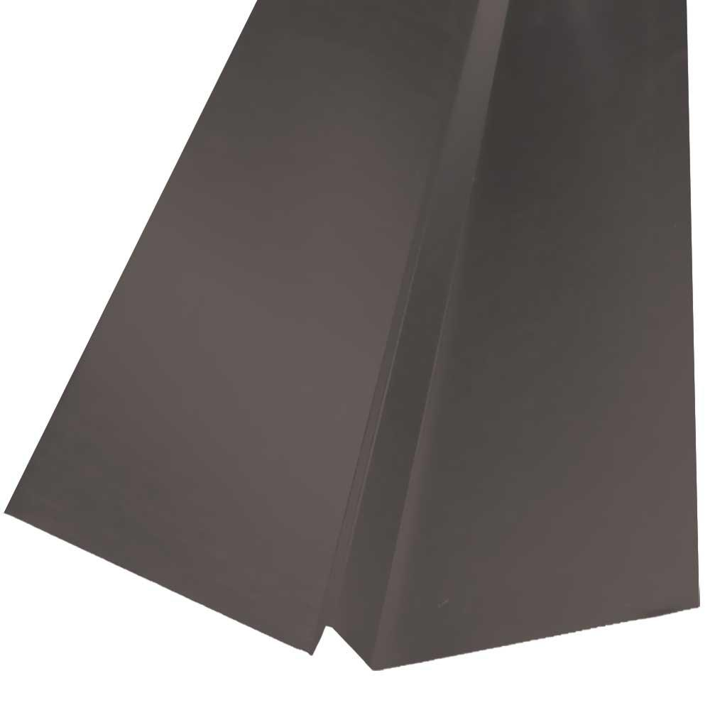 20 in. x 10 ft. Galvanized Steel W-Valley Flashing in Weathered Wood