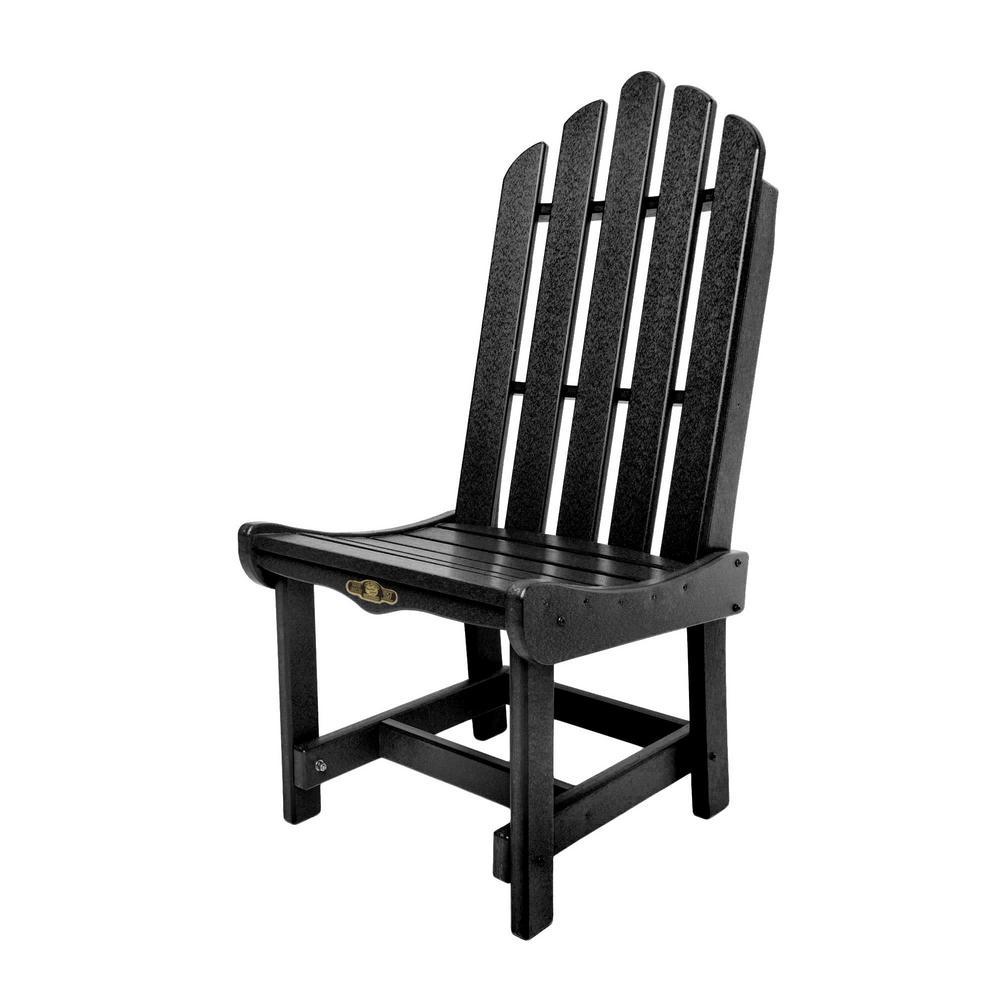 Admirable Durawood Essentials Patio Dining Chair In Black Lamtechconsult Wood Chair Design Ideas Lamtechconsultcom