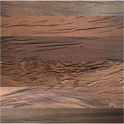3D Holey Wood 5/16 in. x 23.75 in. x 23.75 in. Brown Reclaimed Wood Lay-in Ceiling Panel (4-Pack)
