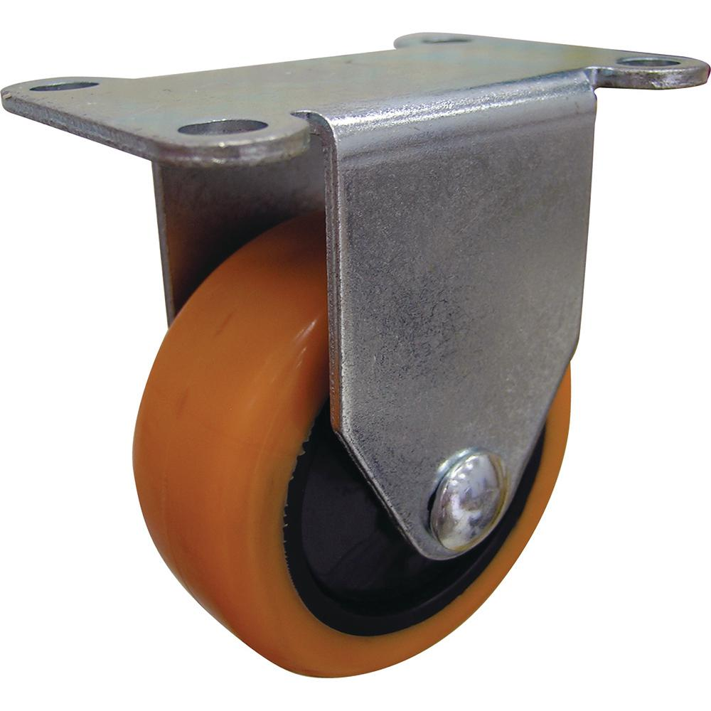 3 in. Orange TPU Rigid Caster with 225 lb. Load Rating