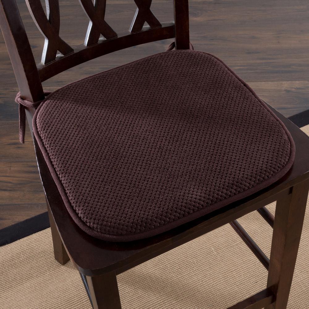 Chocolate Memory Foam Chair Pad