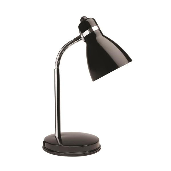 13 in. Black Classic Desk Lamp with LED Light Bulb Included