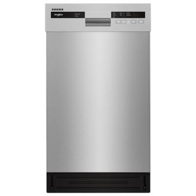 Front Control Built-In Compact Dishwasher in Monochromatic Stainless Steel with Stainless Steel Tub, 50 dBA
