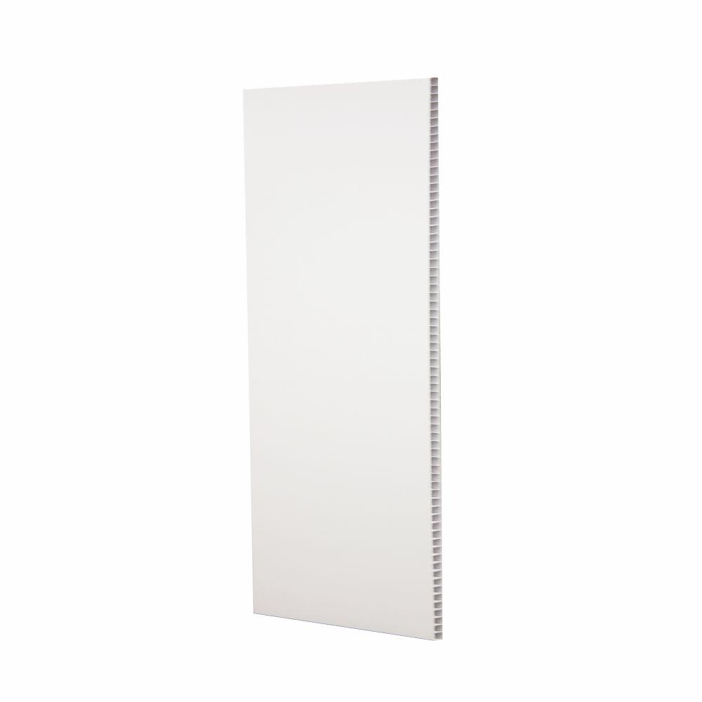 UtiLite 3/8 in. x 16 in. x 96 in. White Plastic Tongue and Groove Wall Panel (5-Pack)