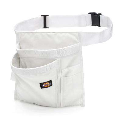 5-Pocket Single Side Tool Pouch / Work Apron in White
