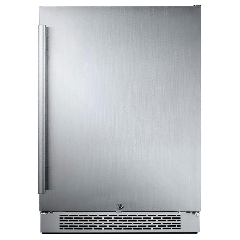 24 in. W 5.5 cu. ft. Freezerless Refrigerator in Stainless Steel,