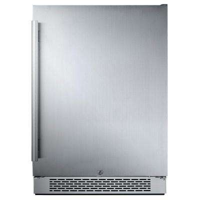 24 in. W 5.5 cu. ft. Freezerless Refrigerator in Stainless Steel, Counter Depth