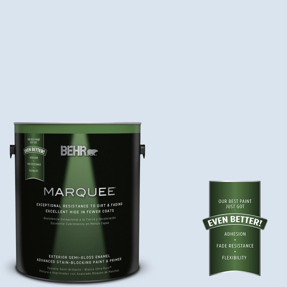 BEHR MARQUEE 1-gal. #570C-1 Arctic Shadow Semi-Gloss Enamel Exterior Paint