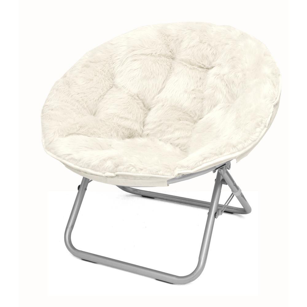 Mongolian White Folding Chair