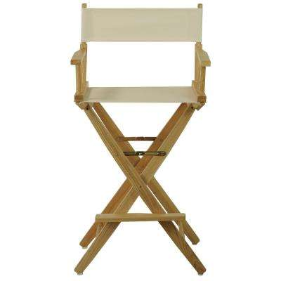 Extra-Wide Natural Frame/Natural Canvas American Hardwood 30 in. Directors Chair