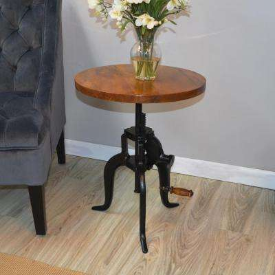 Regan Chestnut and Black End Table
