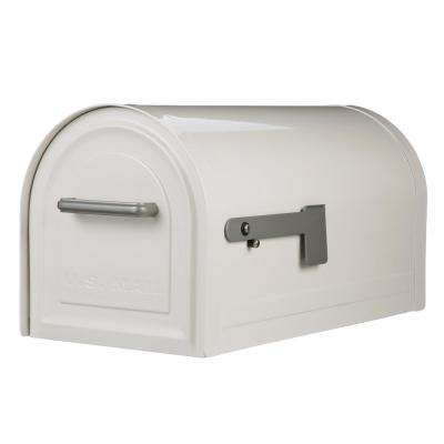 Reliant White Locking Post Mount Mailbox