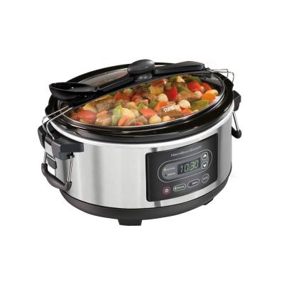 Stay or Go 5 Qt. Stainless Steel Slow Cooker with Temperature Controls