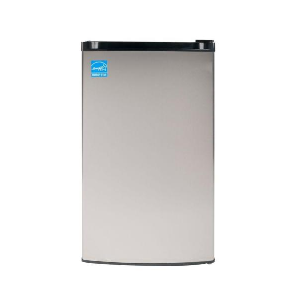 Midea 3.0 cu ft Upright Mini Freezer in Stainless Steel Finish FR 109-30 SS