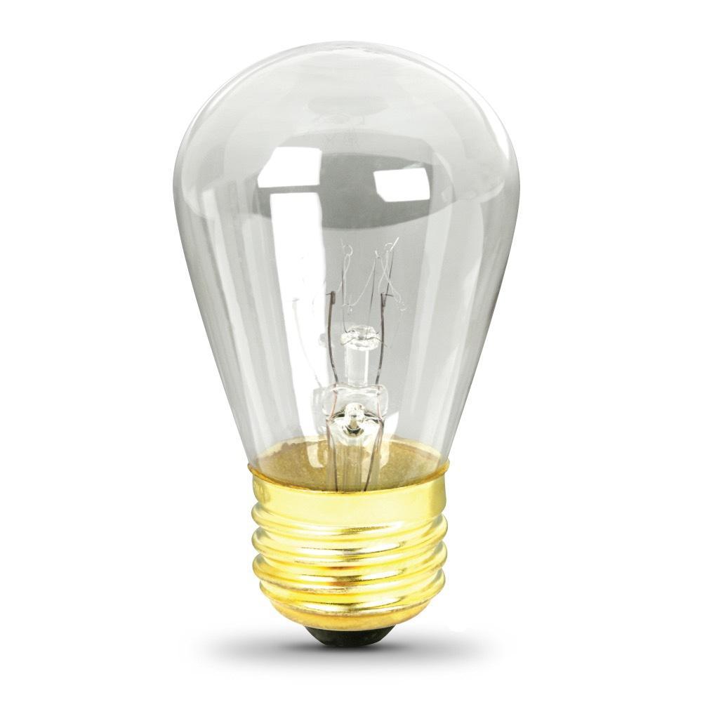 11-Watt String Light S14 Incandescent Light Bulb (4-Pack)