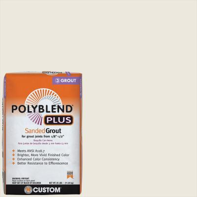 Polyblend Plus #381 Bright White 25 lb. Sanded Grout
