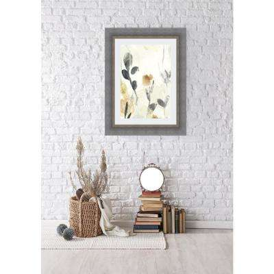 33.5 in. x 27.5 in. 'Garden Flow I' by June Erica Vess Fine Art Paper Print Framed with Glass Wall Art
