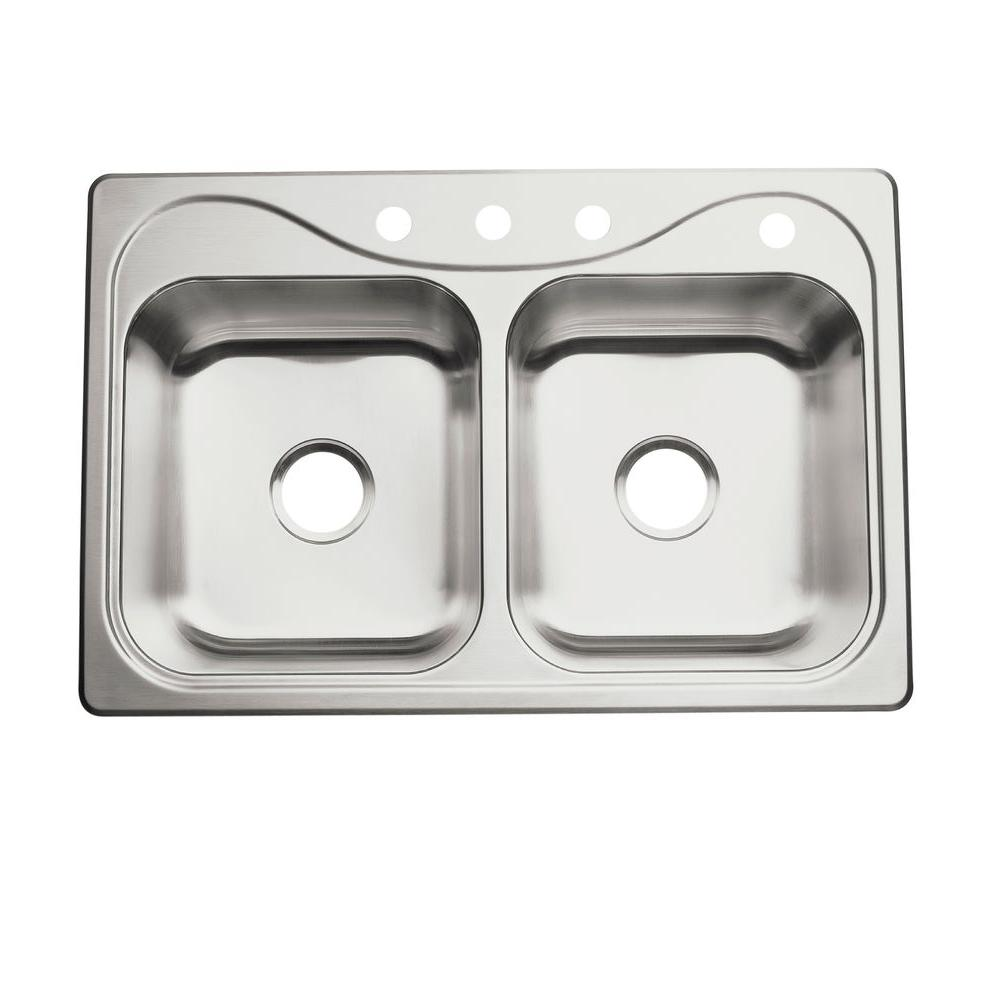 Sterling Southhaven Drop In Stainless Steel 33 In 4 Hole