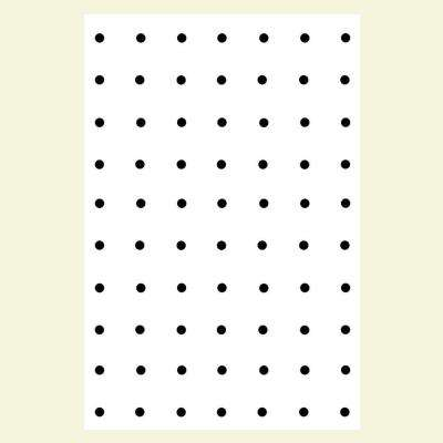 3/16 in. x 4 ft. x 8 ft. Ash Pegboard White Panel