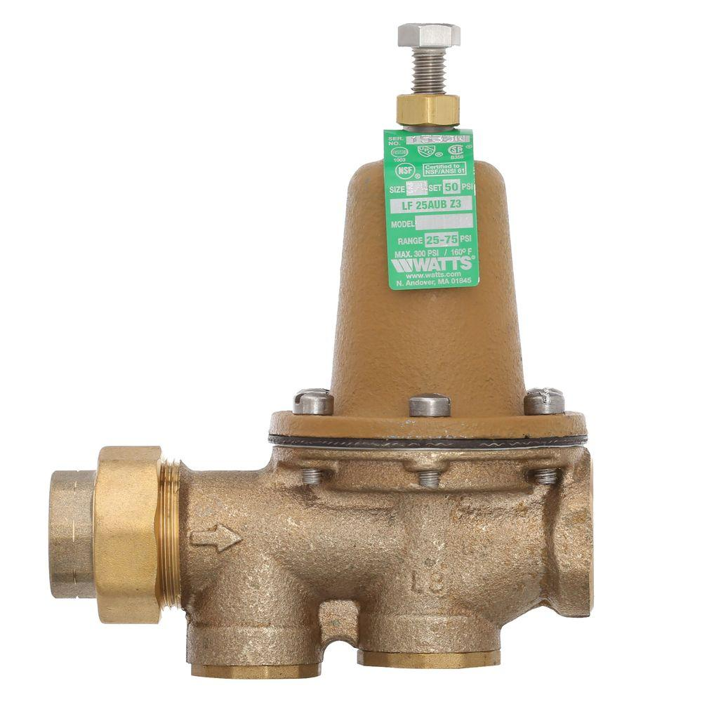 3/4 in  Brass FPT x FPT Water Pressure Reducing Valve