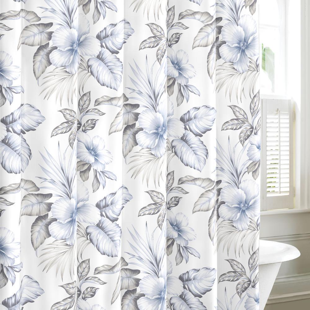 Casablanca Garden 72 in. Cotton Shower Curtain