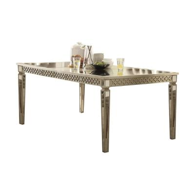 Kacela Mirror and Champagne Dining Table