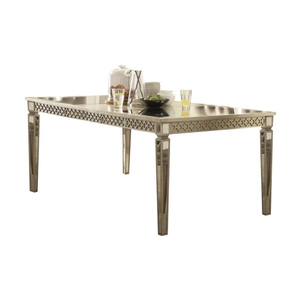 Champagne Dining Room Furniture: Acme Furniture Kacela Mirror And Champagne Dining Table