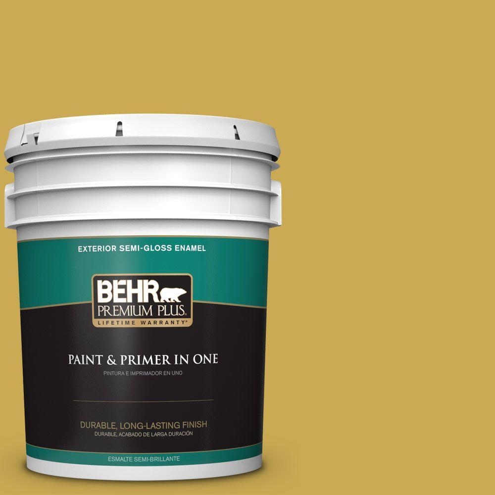BEHR Premium Plus 5-gal. #380D-6 Leapfrog Semi-Gloss Enamel Exterior Paint