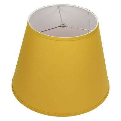 11 in. Top Diameter x 17 in. Bottom Diameter x 13 in. Slant Linen Curry Empire Lamp Shade
