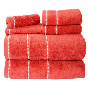 100 cotton zero twist quick dry towel set in brick 6piece