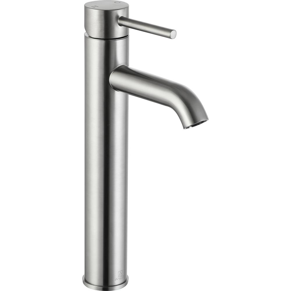 ANZZI Valle Single Hole Single-Handle Bathroom Faucet in Brushed Nickel