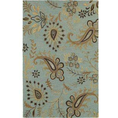 Glamour Spa Blue 8 ft. x 10 ft. Indoor Area Rug