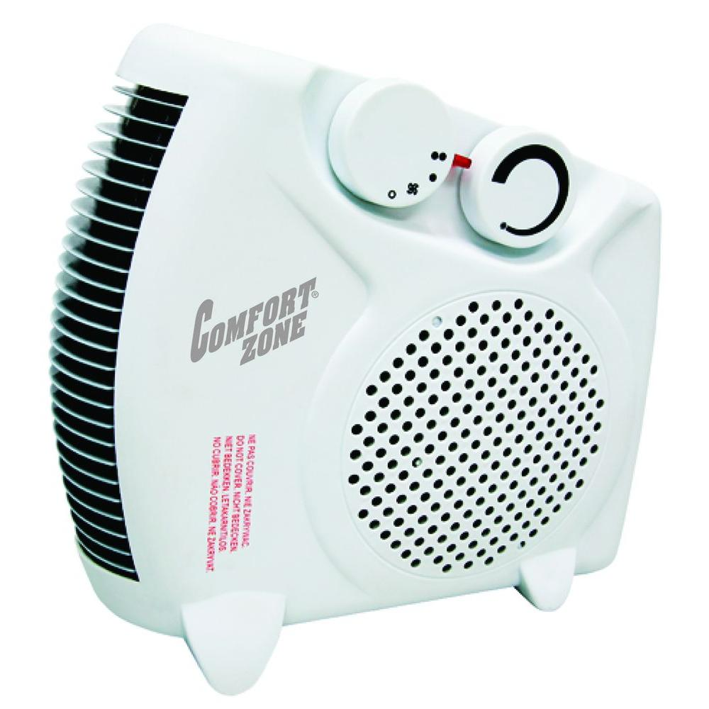 Comfort Zone 750/1500-Watt Dual Position Fan Electric Portable Heater-DISCONTINUED