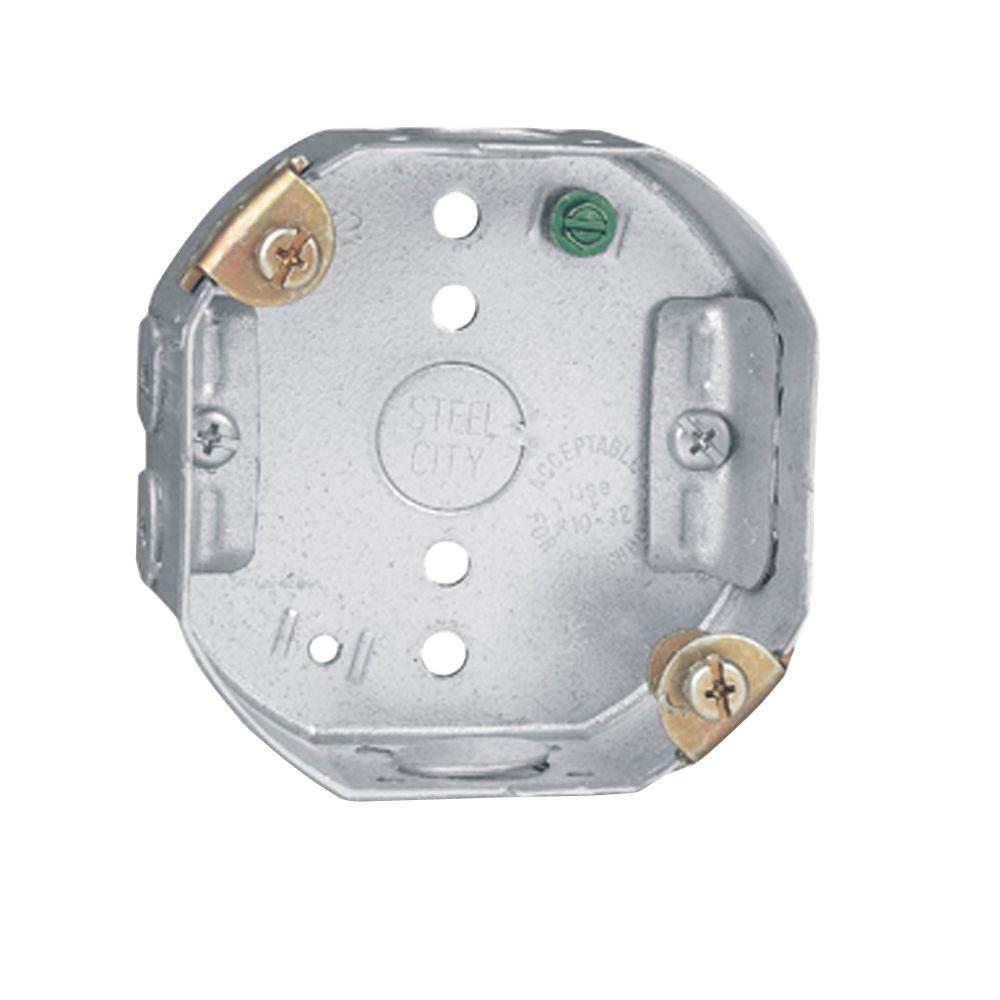 4 in. 15.8 cu. in. Pre-Galvanized Steel Octagon Ceiling Fan Support Box (Case of 10)