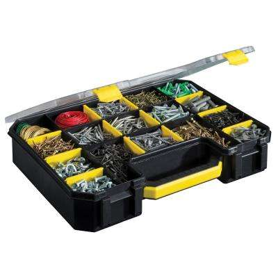 17-Compartment PRO-GO Divided Small Parts Organizer, Yellow