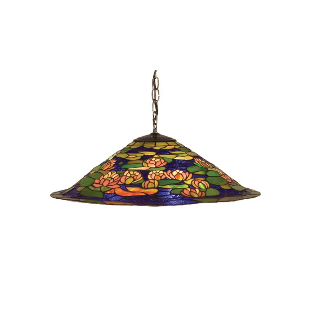 Illumine 3 Light Tiffany Pond Lily Pendant