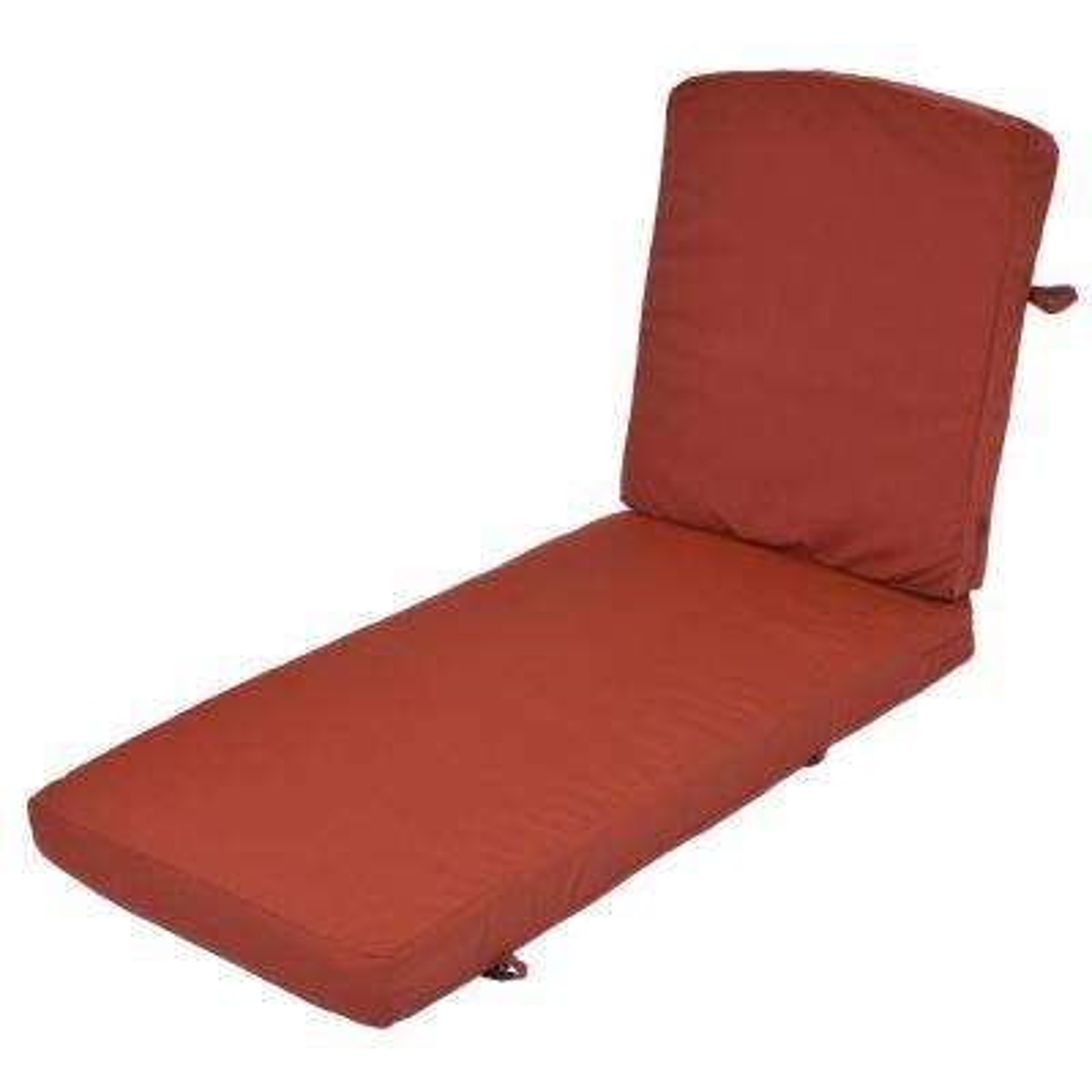 Oak Cliff Sunbrella Canvas Henna Replacement 2-Piece Outdoor Chaise Lounge Cushion