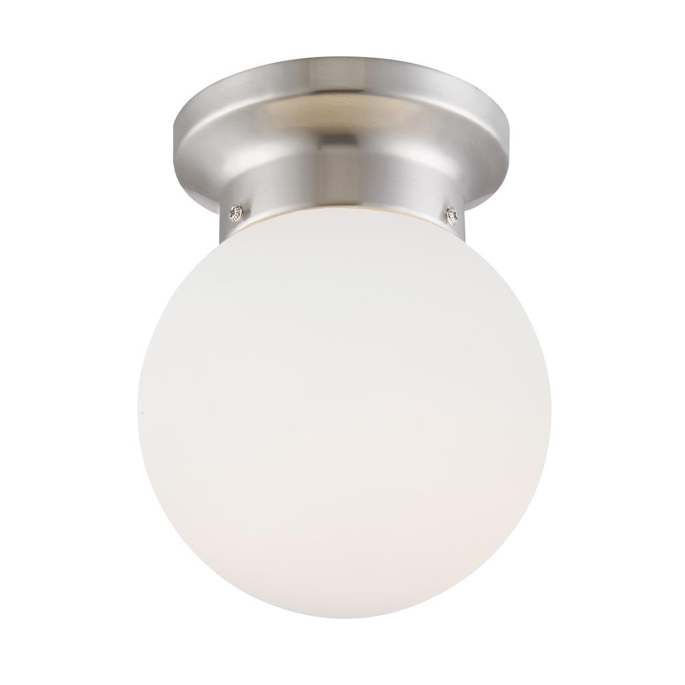 45-Watt Equivalent 6 in. Brushed Nickel Integrated LED Flush Mount