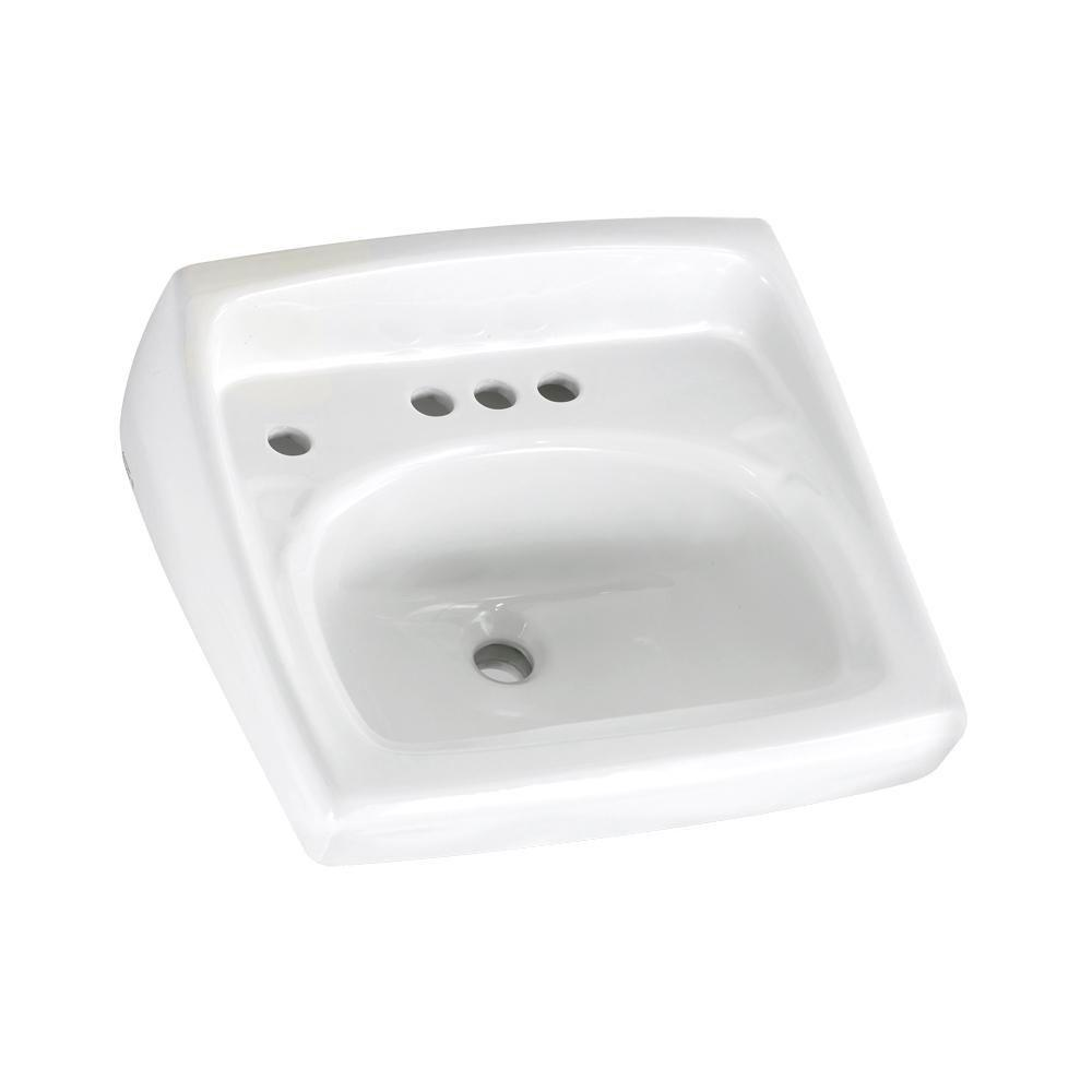 American Standard Lucerne Wall-Mount Bathroom Sink in White
