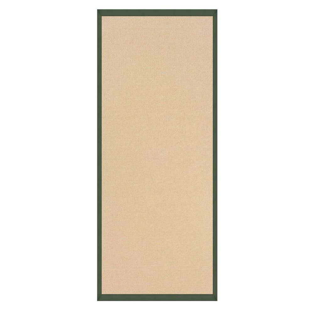 Linon home decor athena natural and green 2 ft 6 in x 8 Home depot decor