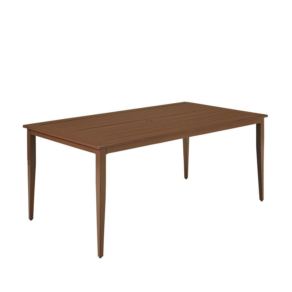 Key West Extruded Aluminum Rectangular Outdoor Dining Table