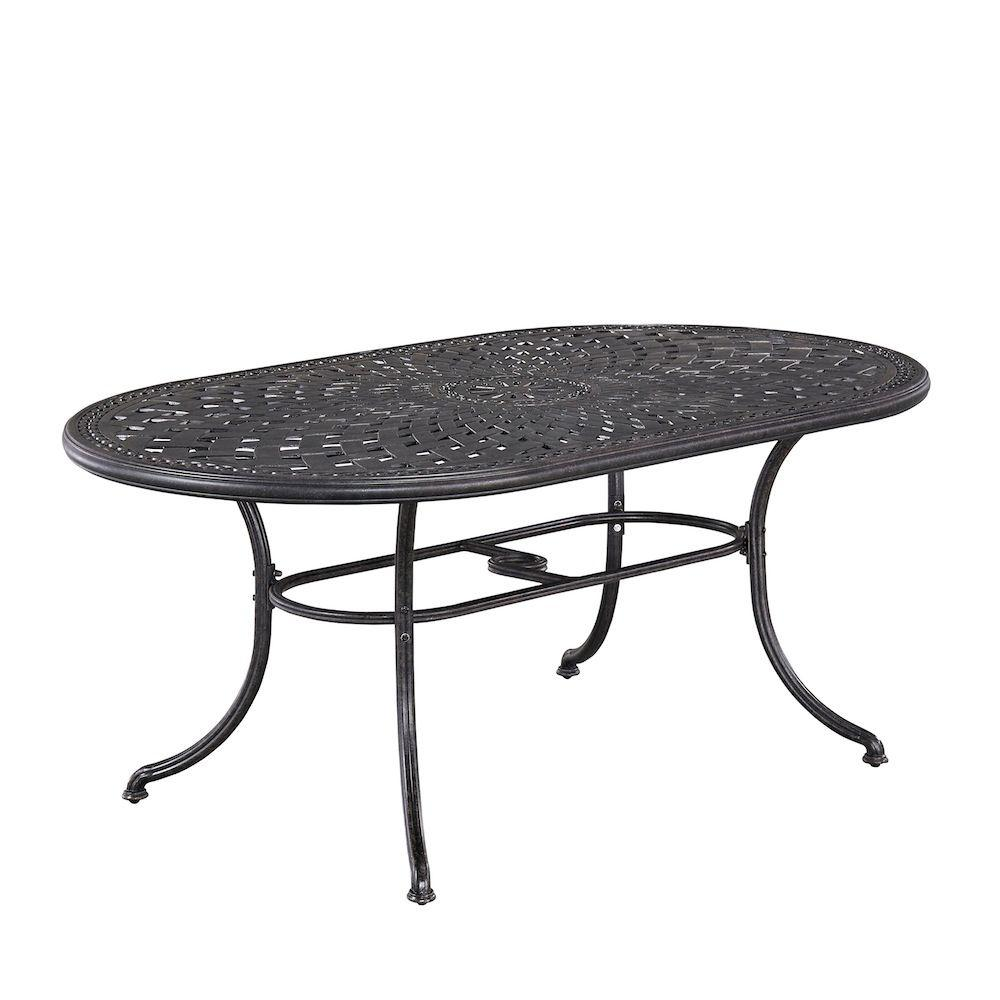 Home Styles Athens Charcoal Oval Patio Dining Table - Home Styles Athens Charcoal Oval Patio Dining Table-5569-33 - The
