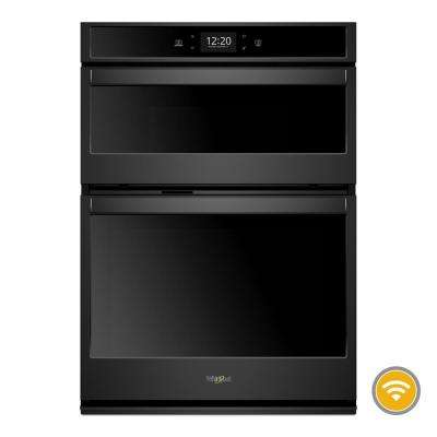 30 in. Smart Combination Wall Oven with Touchscreen in Black