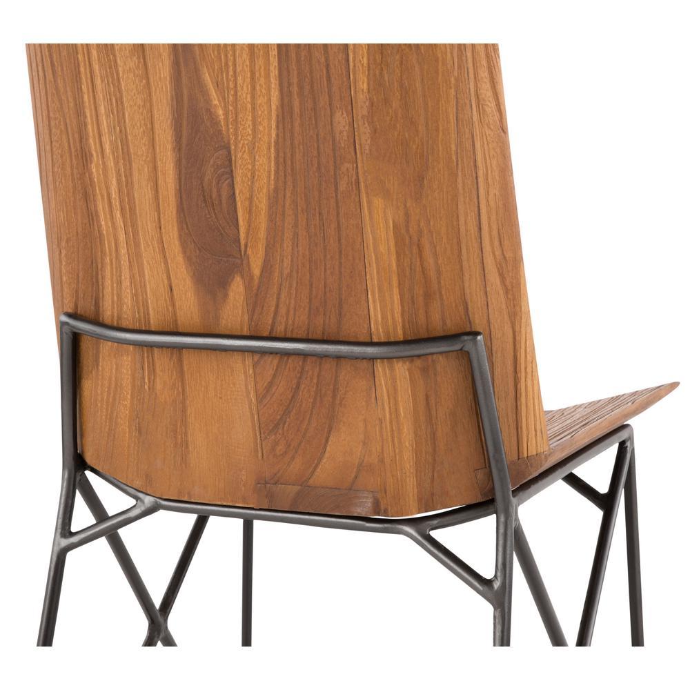 Lumisource Java Industrial Antique Metal and Brown Teak Wood ...