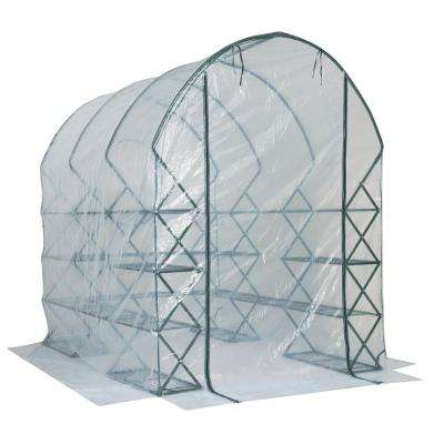 Harvest House 8 ft. x 6 ft. x 9 ft. Poly Opaque Greenhouse