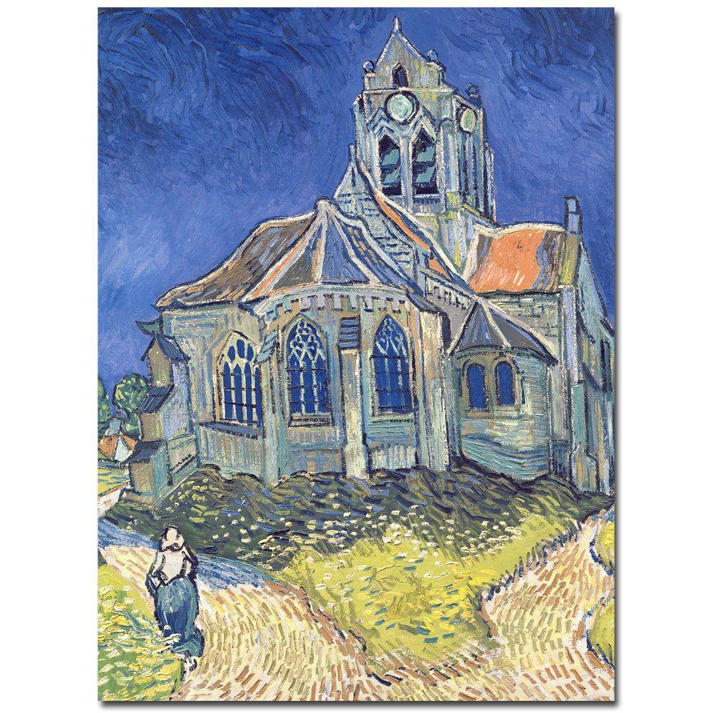 Trademark Fine Art 18 inch x 24 inch Church at Auvers-sur-Oise, 1890 Canvas Art by Trademark Fine Art