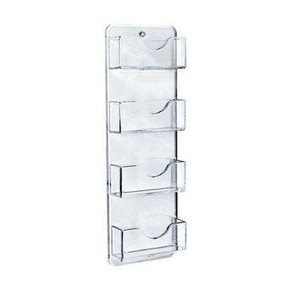 8-Pockets Wall Mount Business/Gift Card Holder, Clear (2-Pack)